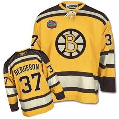 9d8d1ba546a Patrice Burgeron Boston Bruins Yellow Winter Classic Men s Jersey M L XL  2XL 3XL