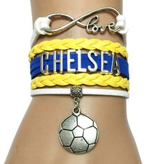 Do you love the Chelsea Football? Cutest Infinity Love Chelsea football bracelet on the earth! Click to get yours today. Limited time sales event.