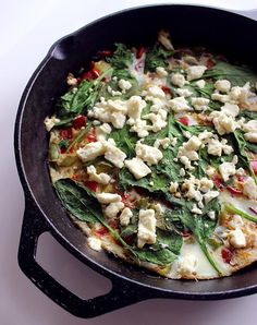 The Low-Calorie, High-Protein Breakfast: Egg White Frittata - 300 Calories High Protein Recipes, Low Carb Recipes, Cooking Recipes, Healthy Recipes, Healthy Breakfasts, Delicious Recipes, Healthy Dinners, Easy Recipes, Tasty