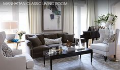 Manhattan Classic Shop Our Living Rooms at Horchow