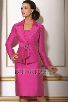 Sheath/Column Square Knee-length Mother Of The Bride Dress