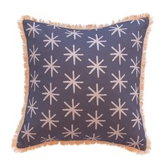 We are all starry-eyed for our signature 'Starry' cushion. Extra special care has been taken during the production of this Limited Edition piece. Designed by Natala Stuetz in Brisbane, Australia. © 2014 Ma and Grandy Fringe Trim, Paper Goods, Cotton Linen, Cool Designs, Feather, Cushions, Brisbane Australia, Starry Eyed, Throw Pillows