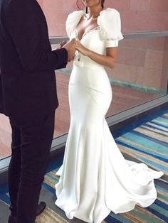 Beading Puff Sleeve Mermaid Wedding Dress 2019 We carry a wide array of the hottest styles of tops, bottoms, dresses, jewelry, and accessories. Modern Filipiniana Gown, Filipiniana Wedding Theme, Gowns With Sleeves, Wedding Dress Sleeves, Puff Sleeves, Short Sleeves, Event Dresses, Occasion Dresses, Bridal Gowns