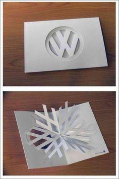 Volkswagen snowflake design Christmas greeting card