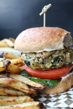 Not only are these Spinach Feta Burgers delicious but they are healthy too! All ingredients can be mixed together in one bowl making this easy to prepare.