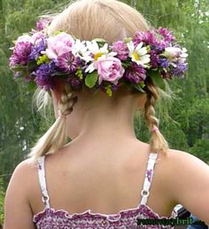 Swedish Midsummer garland