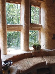 Build benches, shelves and nooks right into the structure of your earth home.