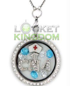 RN Graduation Gift RN Necklace Infinity Love RN Floating Charm Locket