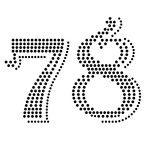 rhinestone numbers (7-8)