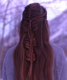 Unique Braided Long Prom Hairstyles