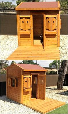 pallets play cabin for kids