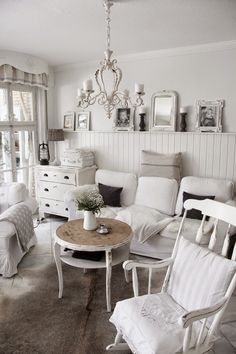 I would do a different shade of white on the walls but I do like the all white look.