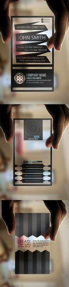 Great Transparent Business Cards! #brand #businesscard