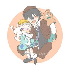 Ranpo is good with children (because he's a child himself). XD