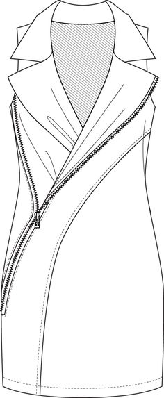 Flat Fashion Sketch Dress