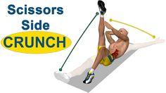 Exercícios para abdominal oblíquo: Scissors Side Crunch 17/10/14