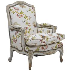 Childs Louis XV Style Painted Bergere Chair   From a unique collection of antique and modern bergere chairs at https://www.1stdibs.com/furniture/seating/bergere-chairs/