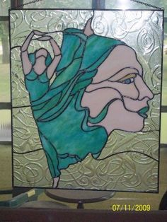 'Dancing' Stained Glass Panel | eBay
