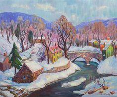 """""""Pennsylvania Hills Near New Hope,"""" Fern Isabel Coppedge, oil on canvas, 20 x 24"""", private collection."""