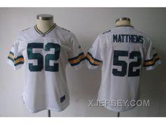 http://www.xjersey.com/women-nfl-green-bay-packers-52-matthews-white2011-new.html WOMEN NFL GREEN BAY PACKERS #52 MATTHEWS WHITE[2011] NEW Only $34.00 , Free Shipping!