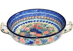 New Polish Pottery Unikat BAKER LARGE ROUND Boleslawiec CA Pattern U4086 *** To view further for this item, visit the image link. (This is an affiliate link) #BakeandServeSets