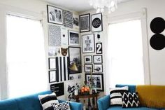 These fresh ideas share how to transform naked corners into useful and inviting spots that make life at home better.: Make a DIY Gallery Wall