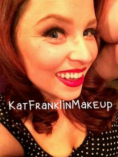 Makeup by Kat Franklin...me!!!  Red lips and red hair make for a red hot bombshell!!!