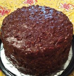 Canasta Cake  ~  Rich, chocolately goodness. Old Memphis recipe from years ago. Yall will forget about every other chocolate cake you have ever eaten after this one! My daddys favorite cake.