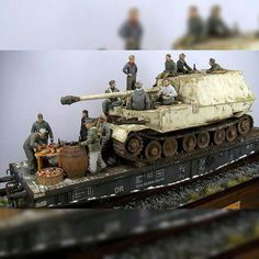 "Nice diorama. ""Ferdinand on Rail"" unknown scale and modeler #scalemodel #plastimodelismo #maqueta #maquette #miniatura #miniature #modelismo #hobby #usinadoskits #udk #war #guerra #guerre #bataille #plasticmodel #plamodel #plastimodelo"