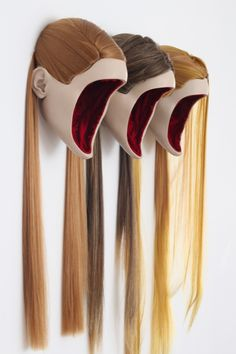 "dirgemagazine: "" Monica Piloni Portraits series , 2013 - resin, synthetic hair, velvet """