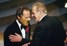 Billy Crystal and Sir Anthony Hopkins Anthony Hopkins Movies, Sir Anthony Hopkins, Best Actress, Best Actor, Dr Hannibal Lecter, Billy Crystal, Best Screenplay, Star Wars, Best Director