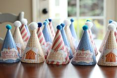 Circus Party Hats #circus #partyhats