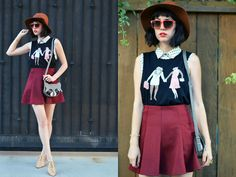 Amy Roiland - Society6 Raccoon Shirt, Chillibeansusa Sunnies, Lalisette Raccoon Bag, Matisse Shoes - Raccoon Town
