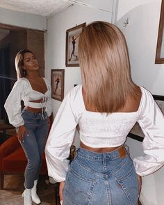 Source by ddaniellelindsayy outfits going out Simple Outfits, Chic Outfits, Pretty Outfits, Spring Outfits, Fashion Outfits, Look Jean, Vetement Fashion, Cropped Tops, Aesthetic Clothes