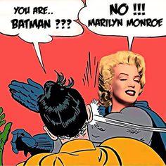 MARILYN MONROE Slaps Robin Marlon Brando, James Dean, Johnny Cash, Elizabeth Taylor, Elvis Presley, Batman Slapping Robin, Nurse Jackie, Marilyn Monroe Art, My Signature