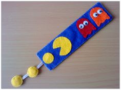 Felt bookmark - Pac Man