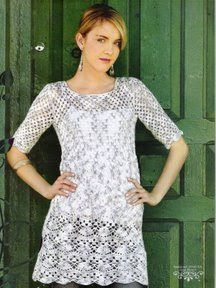 Crochet tunic with pattern