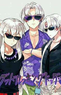 Inuyasha- Inuyasha, Sesshomaru, and their father Inu no Taishou Amor Inuyasha, Inuyasha Funny, Inuyasha Fan Art, Inuyasha And Sesshomaru, Kagome And Inuyasha, Fanarts Anime, Anime Characters, Manga Anime, Miroku