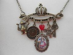 ALICE IN WONDERLAND CHARMS  NECKLACE