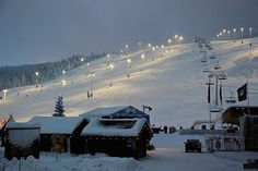 The ski slopes in Levi, Lapland, the resort that provided the inspiration for 'Christmas without Icing'