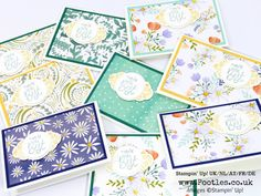 Stampin' Up! Demonstrator Pootles –Delightful Daisy + Label Me Pretty Bundle Customer Thank You Cards Oh I had the most fun making these cards for everyone this month just gone! As a d…