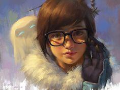 Mei – Overwatch fan art by c home Fantasy Characters, Female Characters, Mei Ling Zhou, Overwatch Wallpapers, Overwatch Fan Art, Overwatch Drawings, Overwatch Widowmaker, Fanart, Epic Art