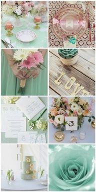 mint green & pink wedding theme