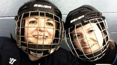 """""""It just looks like so much fun"""" - A group of hockey moms steps out of the stands and into the game! Get Moving, Hockey Mom, Football Helmets, Group, Game, Fun, Gaming, Toy, Games"""