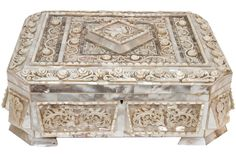 Extraordinary Antique Mother of Pearl Jewelry Dresser Box | eBay