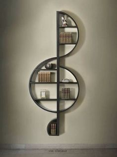 A treble clef bookshelf!