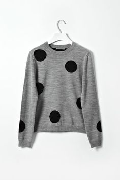 Grey polka dot sweater