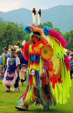 Pow wow Indian festival in Cherokee, North Carolina