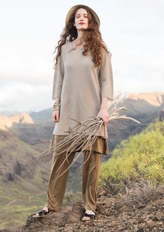 Textured-knit linen tunic – {{p_2015_mayextra_shadesofblue_title}} – GUDRUN SJÖDÉN – Webshop, mail order and boutiques | Colourful clothes and home textiles in natural materials.