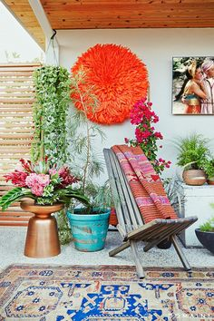 Before+and+After:+A+Celeb+Hairstylist's+Exotic+Rooftop+Remodel+via+@mydomaine